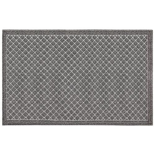 Multy Home Paillasson commercial rectangulaire en faux coco, 3 pi x 5 pi, gris deux tons