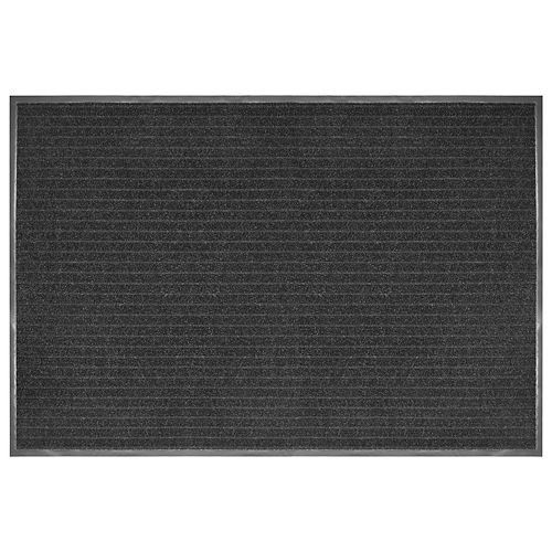 Multy Home Tapis gratte-pieds commercial, 4 pi x 6 pi, Atlas anthracites