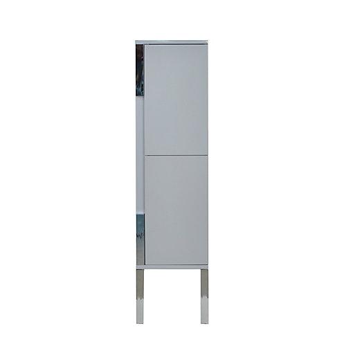 Modo David 14 inch Linen Cabinet in the colour Parisian Grey - Right Hinge