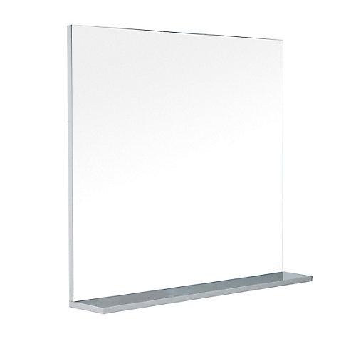 Modo David 32 inch Bathroom Mirror with Shelf in the colour Parisian Grey