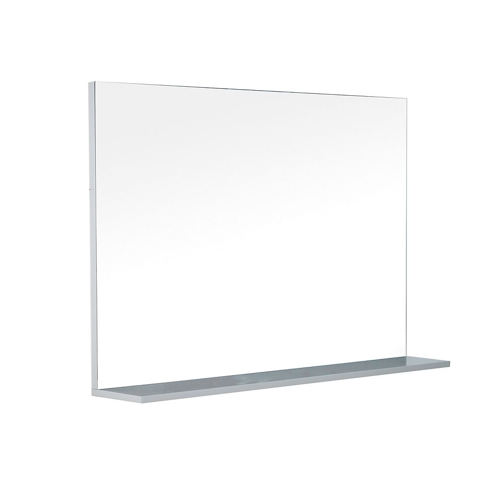 LUKX Modo David 48 inch Bathroom Mirror with Shelf in the colour Parisian Grey
