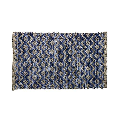 Lanart Rug Chenille Lace Bleu 18 po X 30 po petit tapis intérieur