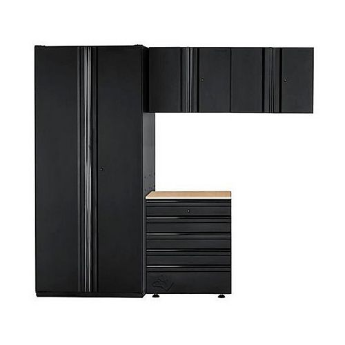 4-Piece Heavy Duty Welded 92-inch W x 81-inch H x 24-inch D Steel Garage Cabinet Set