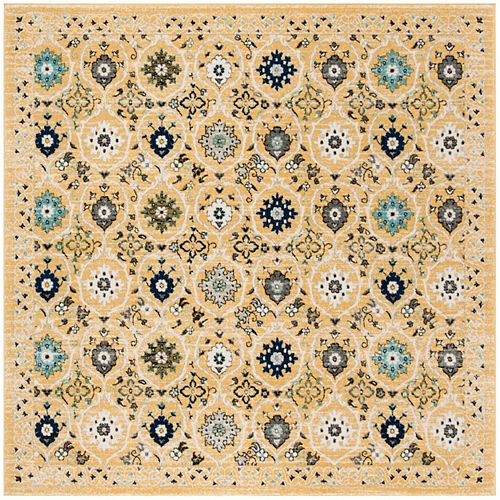Evoke Dirk Gold / Ivory 6 ft. 7-inch X 6 ft. 7-inch Square Area Rug