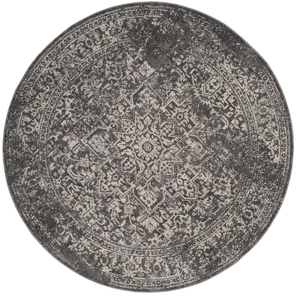 Safavieh Evoke Eric Grey / Ivory 3 ft. X 3 ft. Round Area Rug