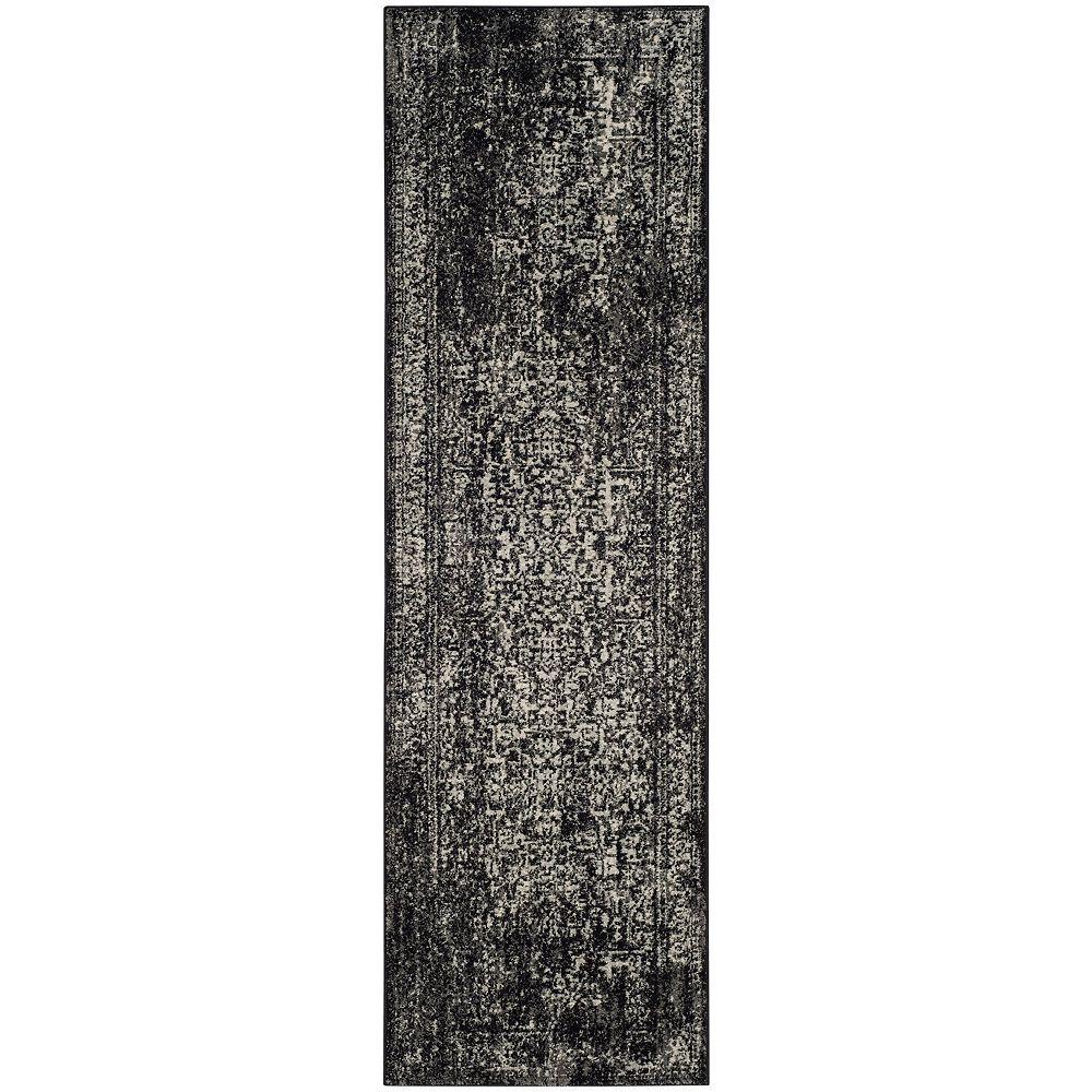 Safavieh Evoke Eric Black / Grey 2 ft. 2-inch X 13 ft. Runner