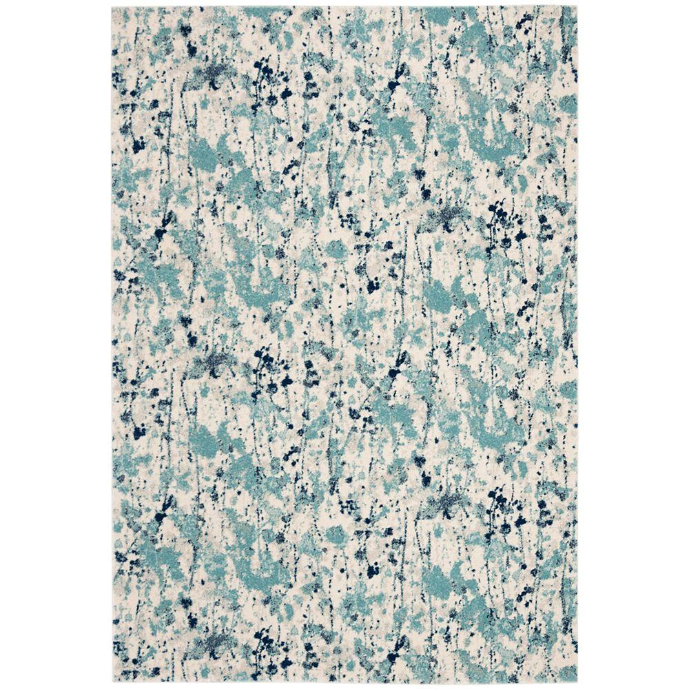 Safavieh Evoke Corwin Ivory / Blue 6 ft. 7-inch X 6 ft. 7-inch Square Area Rug