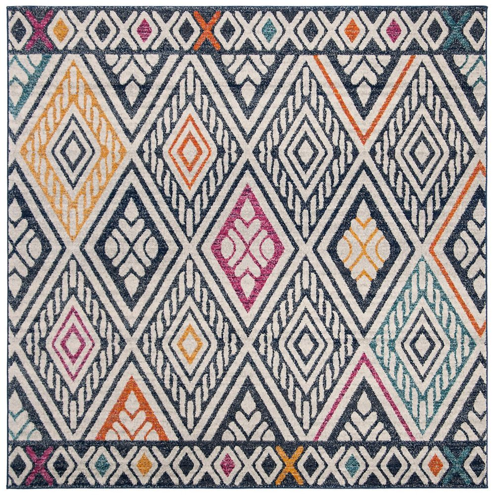 Safavieh Evoke Annora Navy / Ivory 6 ft. 7-inch X 6 ft. 7-inch Square Area Rug
