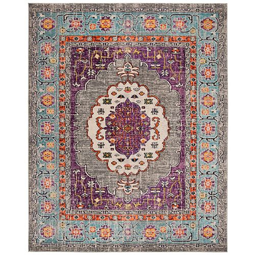 Safavieh Monaco Hermite Violet / Light Blue 8 ft. X 10 ft. Area Rug