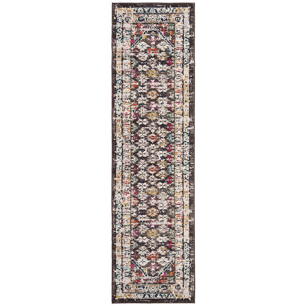 Safavieh Monaco Tendrils Brown / Grey 2 ft. 2-inch X 8 ft. Runner