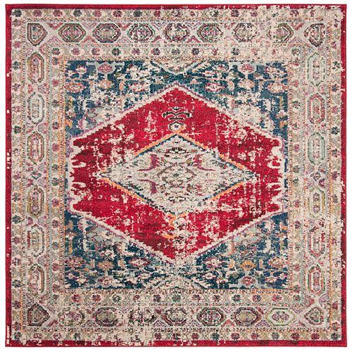 Safavieh Monaco Marsan Ivory / Red 6 ft. 7-inch X 6 ft. 7-inch Square Area Rug