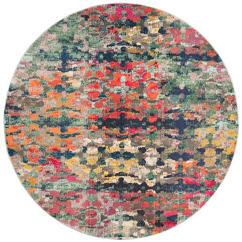 Safavieh Monaco Kelsang Green / Blue 6 ft. 7-inch X 6 ft. 7-inch Round Area Rug
