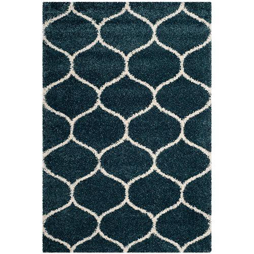 Safavieh Hudson Shag Juan Slate Blue / Ivory 6 ft. X 9 ft. Area Rug