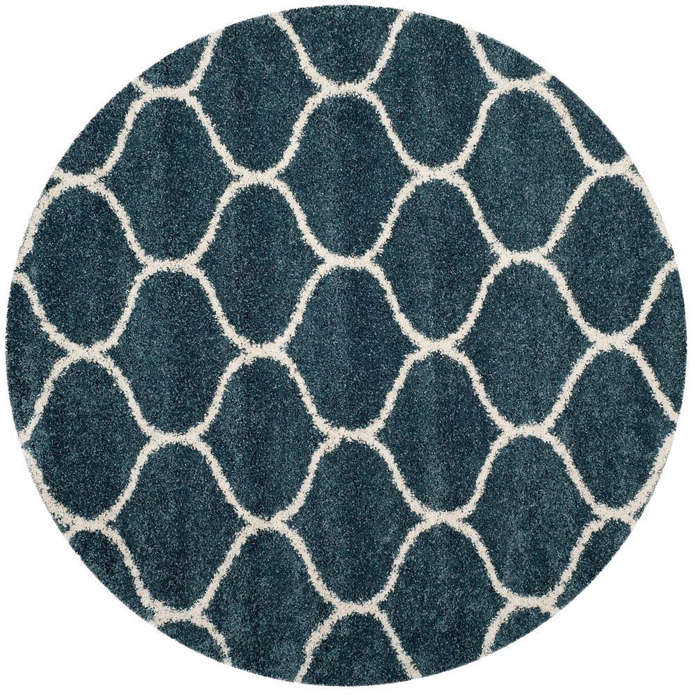 Safavieh Hudson Shag Juan Slate Blue / Ivory 7 ft. X 7 ft. Round Area Rug