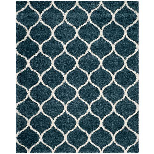 Safavieh Hudson Shag Juan Slate Blue / Ivory 8 ft. X 10 ft. Area Rug
