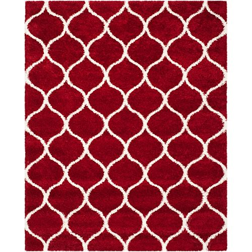 Safavieh Hudson Shag Juan Red / Ivory 8 ft. X 10 ft. Area Rug