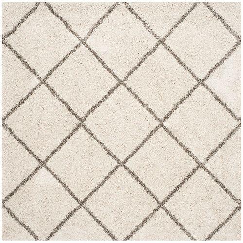 Safavieh Hudson Shag Stewart Ivory / Grey 7 ft. X 7 ft. Square Area Rug