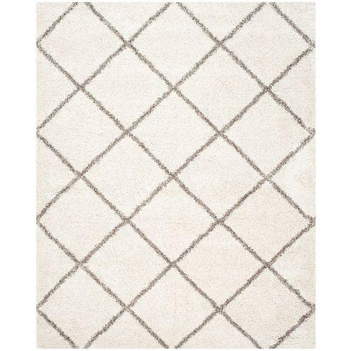 Tapis d'intérieur, 8 pi x 10 pi, Hudson Shag Stewart, ivoire / gris