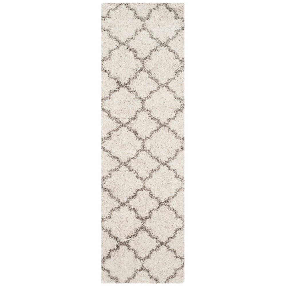 Safavieh Hudson Shag Eliot Ivory / Grey 2 ft. 3-inch X 6 ft. Runner