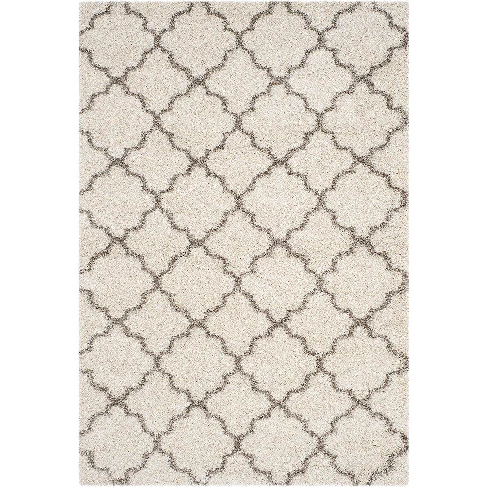 Safavieh Hudson Shag Eliot Ivory / Grey 4 ft. X 6 ft. Area Rug