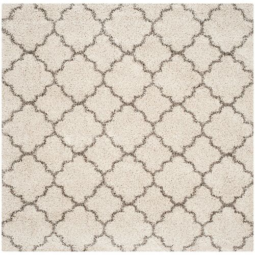 Safavieh Hudson Shag Eliot Ivory / Grey 7 ft. X 7 ft. Square Area Rug