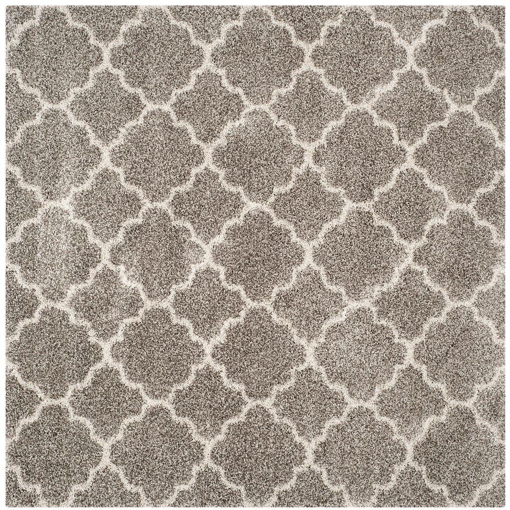 Safavieh Hudson Shag Eliot Grey / Ivory 7 ft. X 7 ft. Square Area Rug