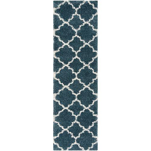 Safavieh Hudson Shag Eliot Slate Blue / Ivory 2 ft. 3-inch X 6 ft. Runner