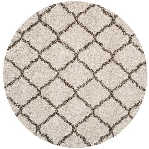 Safavieh Hudson Shag Francine Ivory / Grey 7 ft. X 7 ft. Round Area Rug