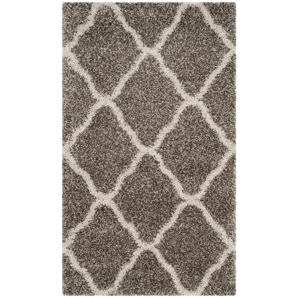 Safavieh Hudson Shag Francine Grey / Ivory 3 ft. X 5 ft. Area Rug