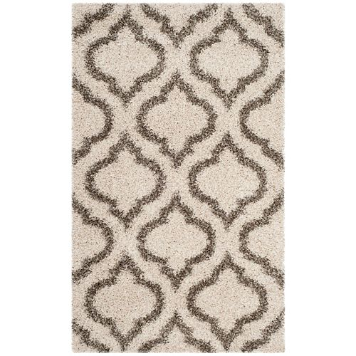 Safavieh Hudson Shag Searlait Ivory / Grey 3 ft. X 5 ft. Area Rug