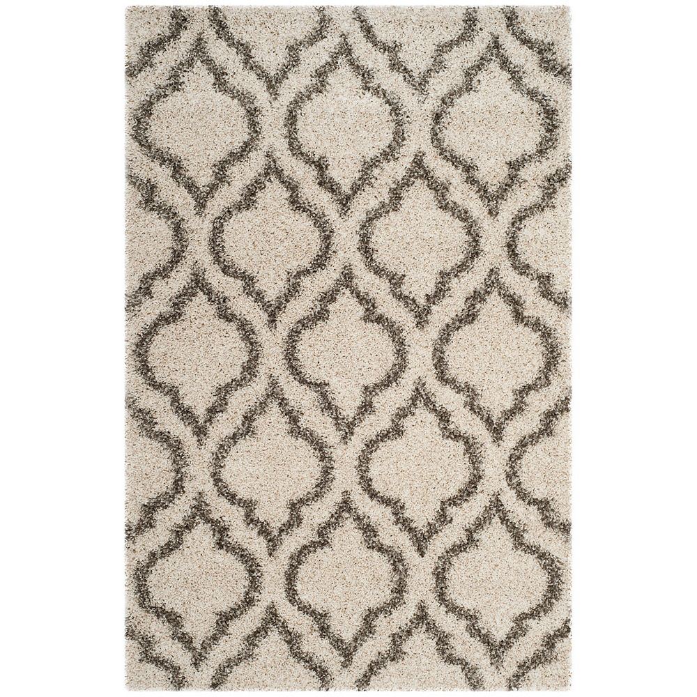 Safavieh Hudson Shag Searlait Ivory / Grey 5 ft. 1-inch X 7 ft. 6-inch Area Rug