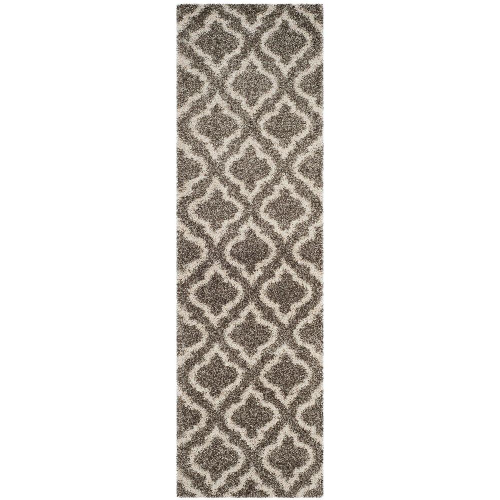 Safavieh Hudson Shag Searlait Grey / Ivory 2 ft. 3-inch X 6 ft. Runner
