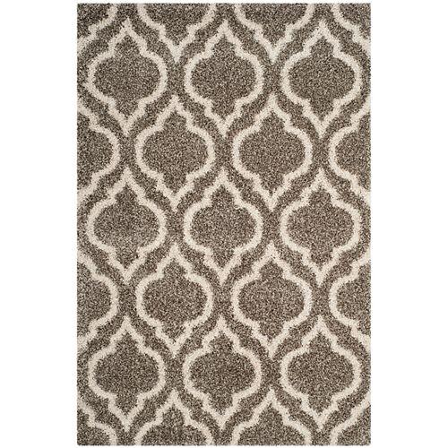 Safavieh Hudson Shag Searlait Grey / Ivory 5 ft. 1-inch X 7 ft. 6-inch Area Rug