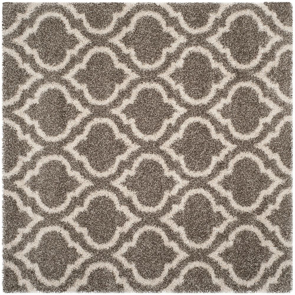 Safavieh Hudson Shag Searlait Grey / Ivory 7 ft. X 7 ft. Square Area Rug