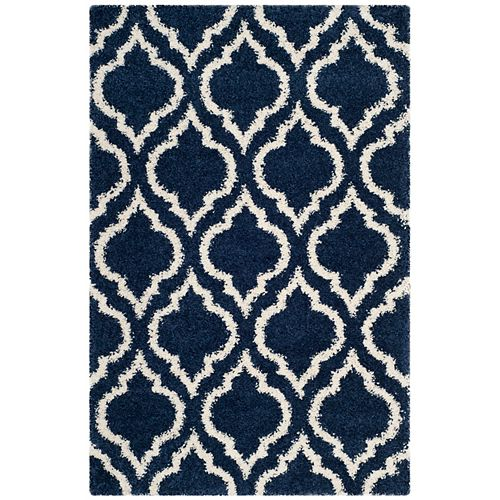 Safavieh Hudson Shag Searlait Navy / Ivory 4 ft. X 6 ft. Area Rug