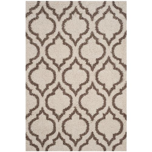 Safavieh Hudson Shag Searlait Ivory / Beige 5 ft. 1-inch X 7 ft. 6-inch Area Rug