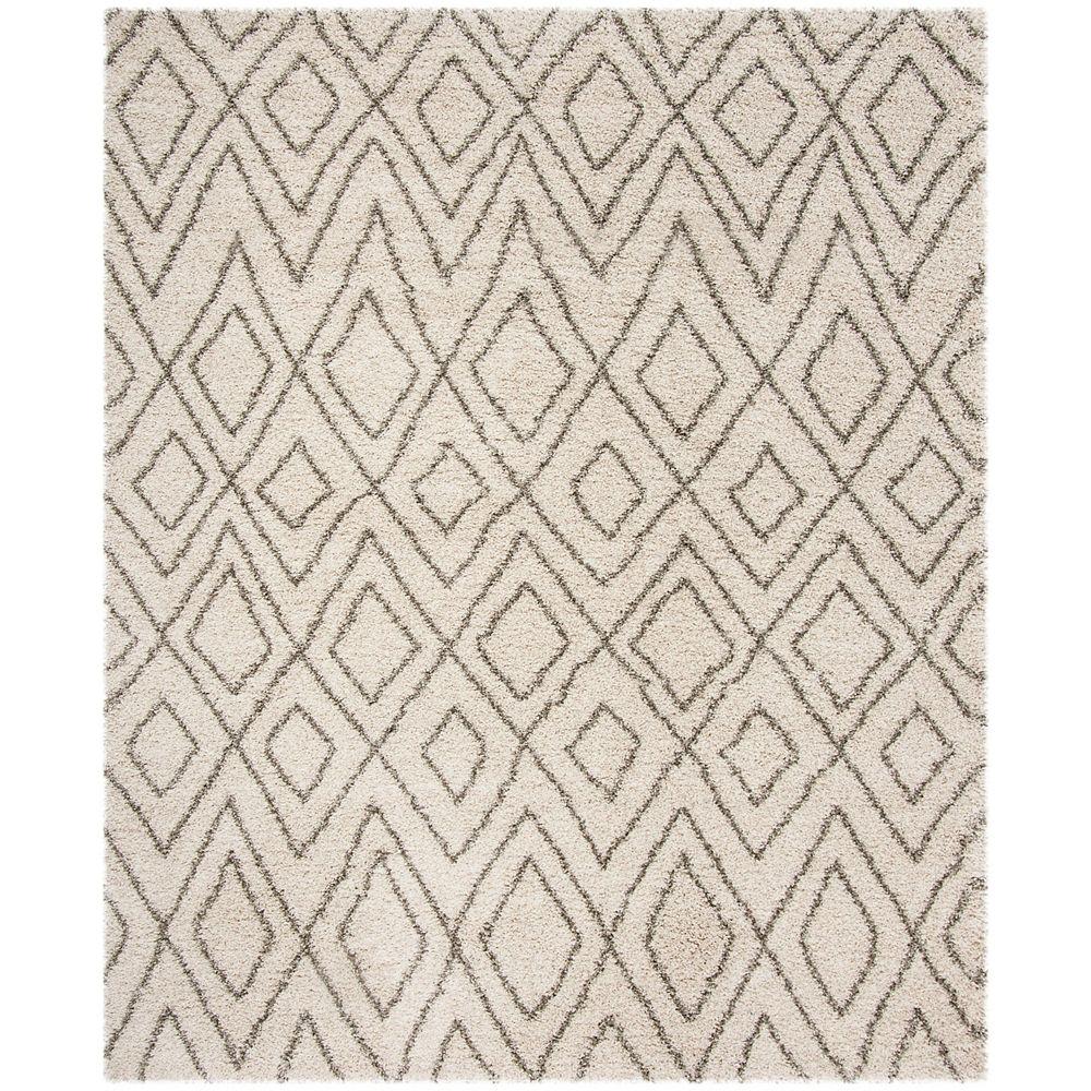 Safavieh Hudson Shag Hannan Ivory / Grey 8 ft. X 10 ft. Area Rug