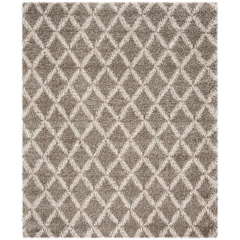 Safavieh Hudson Shag Roswell Grey / Ivory 8 ft. X 10 ft. Area Rug