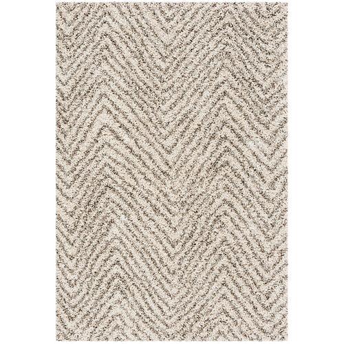 Safavieh Hudson Shag Sierra Ivory / Grey 4 ft. X 6 ft. Area Rug