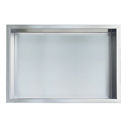 12 in. x 18 in. Stainless Steel Shower Niche in Brushed by JAG