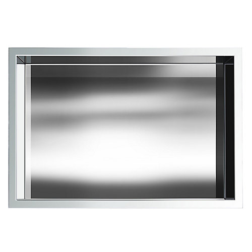 12 in. x 18 in. Stainless Steel Shower Niche in Chrome by JAG