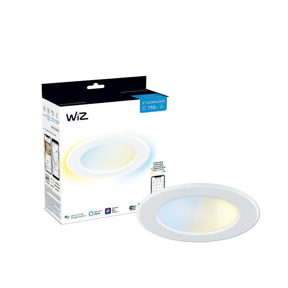 Philips WiZ Lampe LED blanche accordable de 65 W, 6 pouces, pour maison intelligente, avec Downlight Wi-Fi