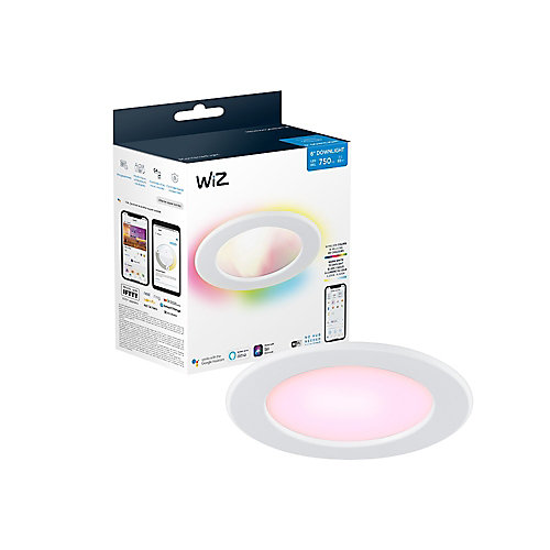 WiZ 65W 6-inch Downlight WiFi Full Colour & Tunable White (2200-6500K) Smart LED Light Fixture