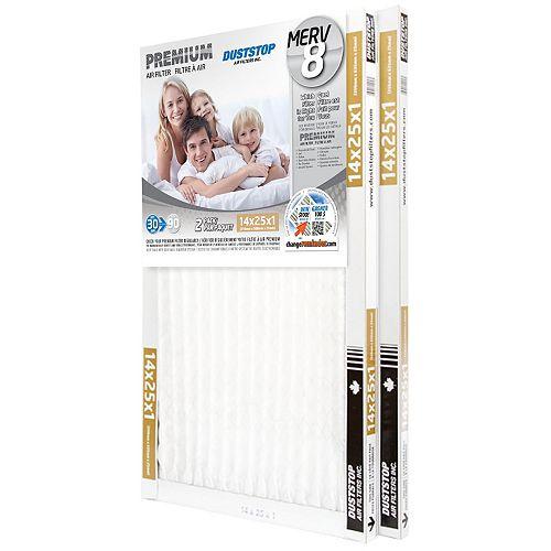 14x25x1 MERV 8 Premium filter pack of 12 filters