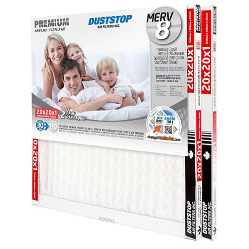 20x20x1 MERV 8 Premium filter pack of 12 filters