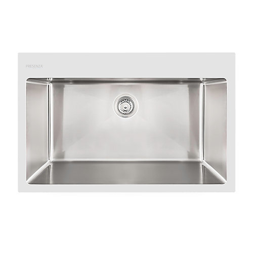 Dual Mount - Stainless Steel Single Bowl Sink with Micro Radius Corners