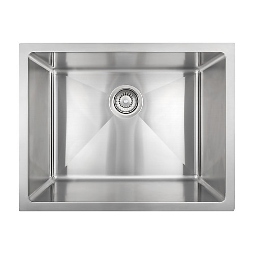 Under Mount - Stainless Steel Single Bowl Sink with Micro Radius Corners