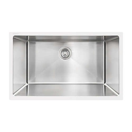 Under Mount - Large Stainless Steel Single Bowl Sink with Micro Radius Corners