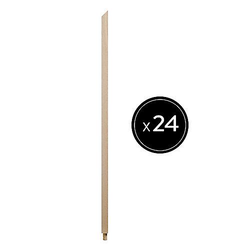 """31"""" H x 1.06"""" x 1.06"""" Barreau en Chêne - Ensemble de 24"""