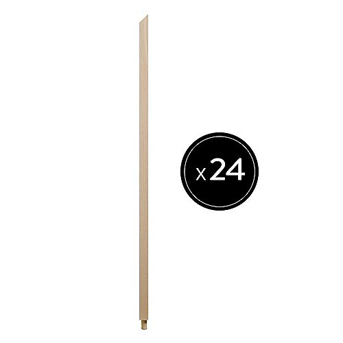 31 inch H x 1.06 inch W x 1.06 inch D Oak Baluster - Pack of 24